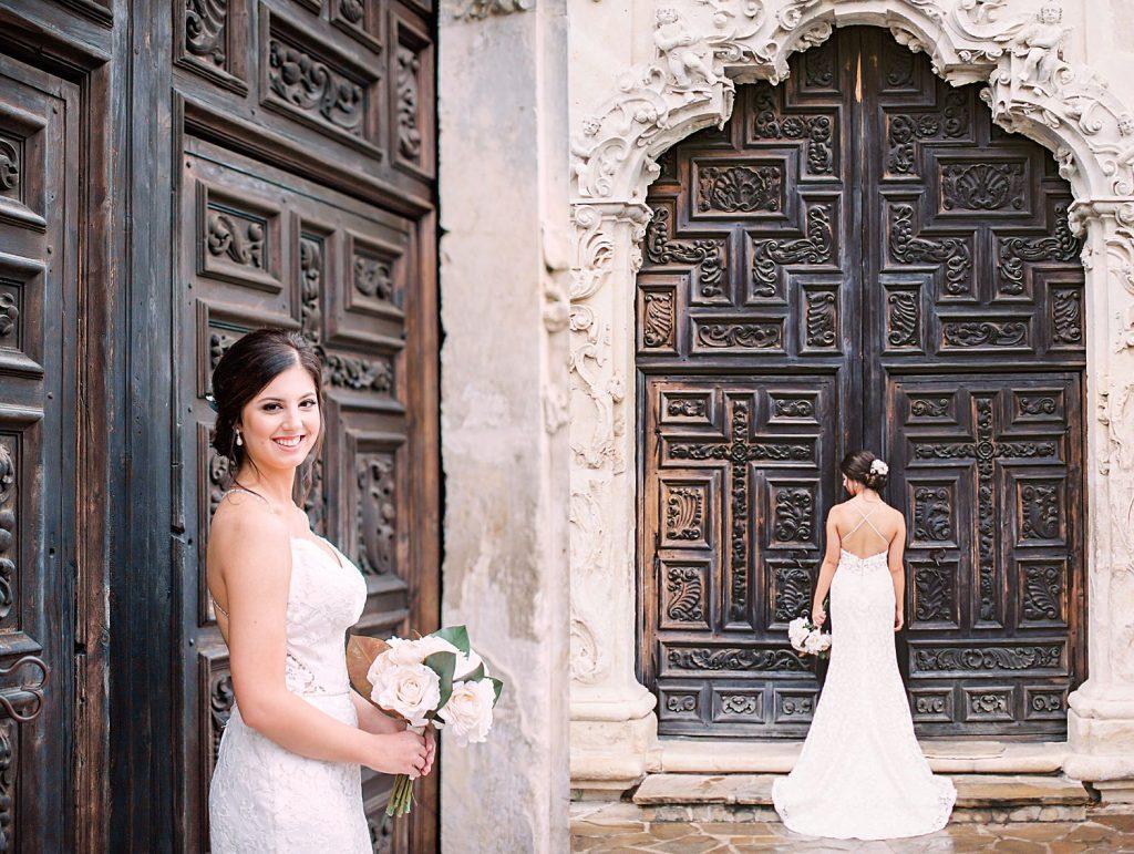 Rainy Day Spanish Mission Bridals San Antonio Wedding Photographer